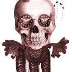 skull cuckoo clock